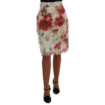 Dolce & Gabbana Floral Patterned Pencil Straight Skirt -- SKI1701040
