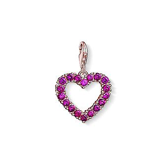 Thomas Sabo Charm Club Fuschia rosa Cut-out Herz Charme 1575-540-10
