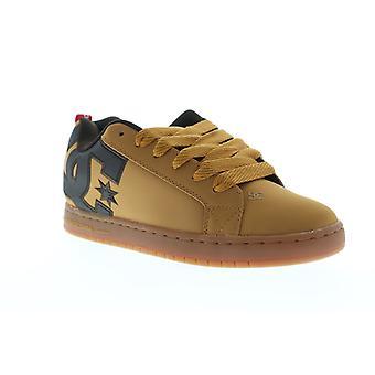 DC Court Graffik SE  Mens Brown Nubuck Lace Up Athletic Skate Shoes