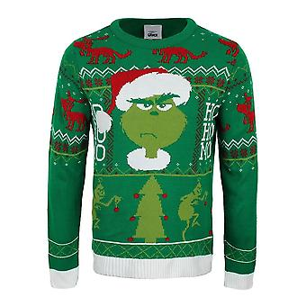 Unisex The Grinch Ho Ho Ho Knitted Christmas Jumper