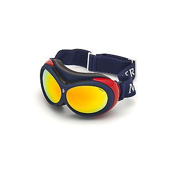 Moncler ML 0130 92C Blue Other/Smoke Mirror Sunglasses
