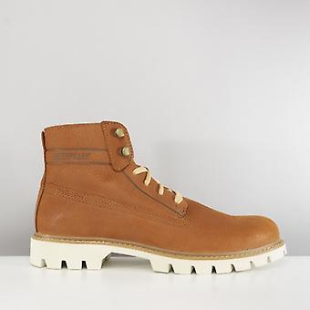 CAT Lifestyle Basis Mens Leather Ankle Boots Ginger