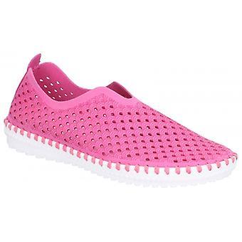 Divaz Onyx Ladies Microfibre Slip On Shoes Fuchsia
