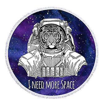 Space Tiger Beach Towel