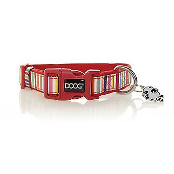 Collar para perro de neopreno Doog, medio (Scooby - Multi Colour Stripped)