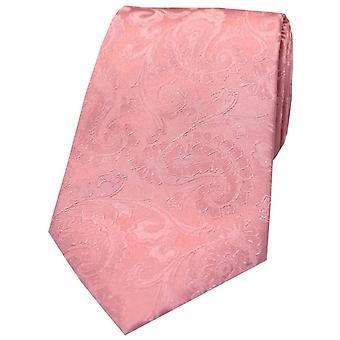 David Van Hagen Paisley Silk Tie - Pink