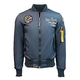 Top Gun MA-1 Lady Luck Reversible Bomber Jacket Navy Black