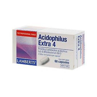 Lamberts acidophilus Extra 4Giver 4.000.000.000 levende bakterier pr. kapsel