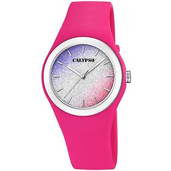 Calypso K5754-5 - watch Bracelet Silicone case Silicone Rose wife Rose