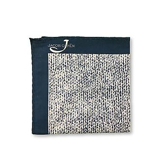 Jacob Cohen Pocket Square in blue/white marl design