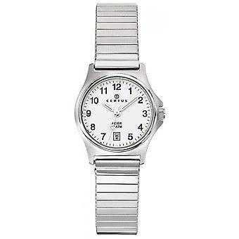 Horloge Certus 625020-zilver stalen doos ronde vrouwen zilveren stalen armband