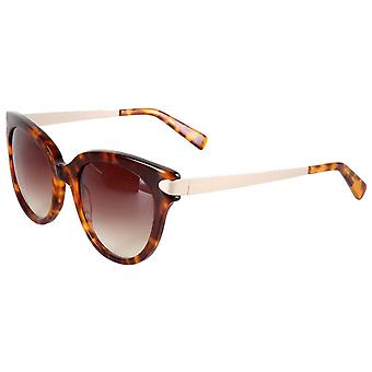 French Connection Premium Oversized Sunglasses - Brown Tort