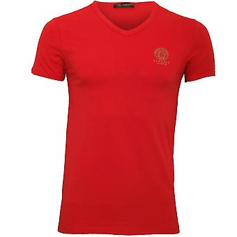 Versace Iconic V-Neck T-Shirt, Red