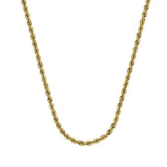 14k Yellow Gold Hollow Rope Chain Bracelet 4mm Lobster Claw Closure 8 Inch Jewelry Gifts for Women