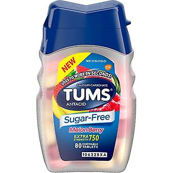 Tums Extra Strength Antacid Sugar Free Melon Berry Chewable Tablet