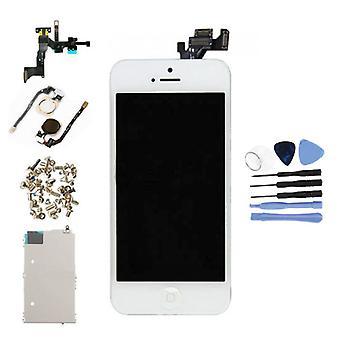 الاشياء المعتمدة® iPhone 5 شاشة تم تجميعها مسبقًا (شاشة تعمل باللمس + LCD + أجزاء) AAA + الجودة - أبيض + أدوات
