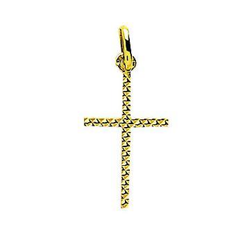 750/1000 pingente de cruz de ouro amarelo (18K)