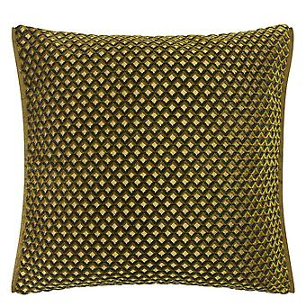 Designers Guild Portland Geometric Cushion In Ochre Yellow