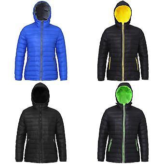2786 Womens/Ladies Hooded Water & Wind Resistant Padded Jacket