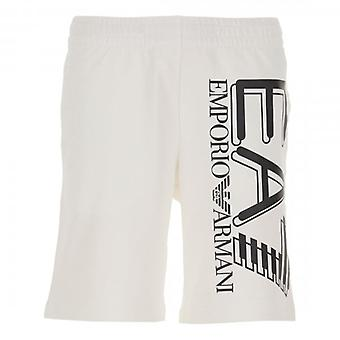EA7 Emporio Armani EA7 Bermuda Logo Jogging Shorts White 3HPS59 PJ05Z