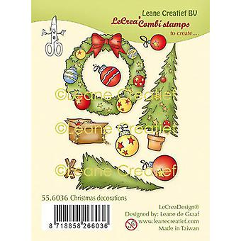 Leane Creatief Christmas Decorations Clear Stamp
