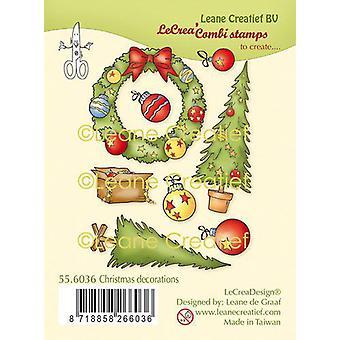 Leane Creatief decoraciones navideñas sello claro