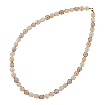 TOC 9ct Yellow Gold Multicolour Oval Freshwater Cultured Pearl 16