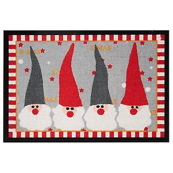 Captura de suciedad de felpudo del cojín rojo Navidad IMP gris 40 x 60 cm