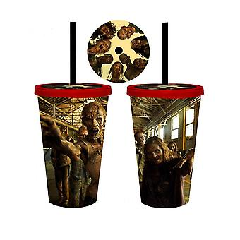 Walking Dead Carnival Cup With Zombies On The Lid