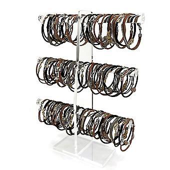 OnDisplay 3 Tier Acrylic Bracelet/Necklace/Bangle T-Bar Tree Stand - Accrochez tous vos colliers, bracelets, cravates de cheveux, bracelets et accessoires