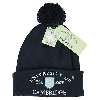 Licenseret Cambridge University™ POM POM Beanie ski hat Navy farve