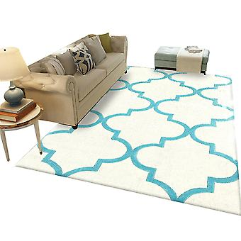 Square hyperbolic printed carpet Polyester simple carpet 120x160cm for bedroom and living room