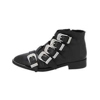 Topshop ANDI MULTI BUCKLE BT Dameslaarzen Zwarte Lace-Up Boots Winter