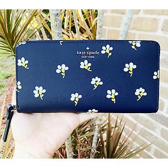 Kate spade laurel way neda zip around continental wallet nightcap multi floral