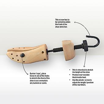 Two Way Beech Shoe Stretcher Mens/Ladies-Mens Large 46/48