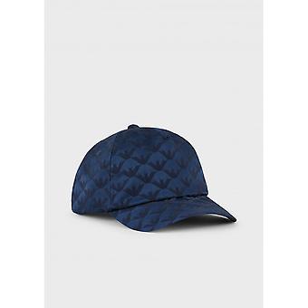 Emporio Armani Polyester Navy Baseball Cap