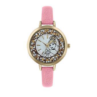 ディズニーシンデレラグラッツィーピンクアナログ腕時計