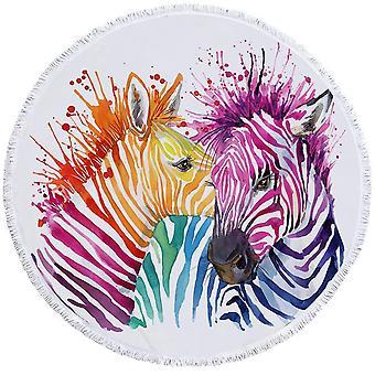 منشفة شاطئ زيبراس الملونة