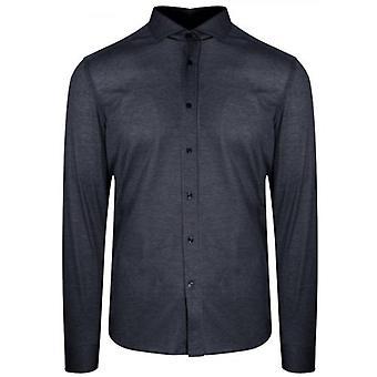 CC Collection Corneliani Navy Long Sleeve Spread Collar Shirt