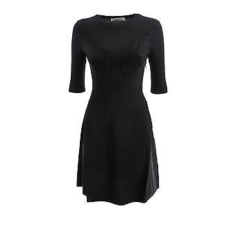 Valentino Ub3kd04w5rv0no Women's Black Viscose Dress