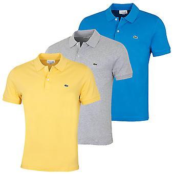 Lacoste Herren 2021 Kurzarm gerippt Kragen weiche Baumwolle Polo Shirt