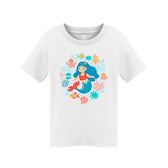 Cute Little Cartoony Mermaid Tee Toddler's -Image by Shutterstock