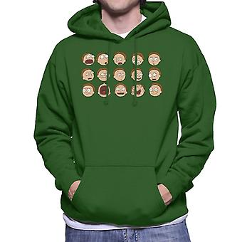 Rick en Morty de vele uitingen van Morty Smith mannen ' s Hooded Sweatshirt