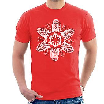 Star Wars Christmas R2 Snowflake miesten ' s T-paita