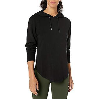 Merke - Core 10 Kvinner's Cloud Soft Yoga Fleece Hettegenser Sweatshirt, Blac...