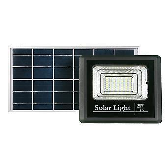 Jandei Proyector led solar 25W 465 lúmenes con panel separado bateria litio, mando a distancia, jardin, patio, callejón, patio