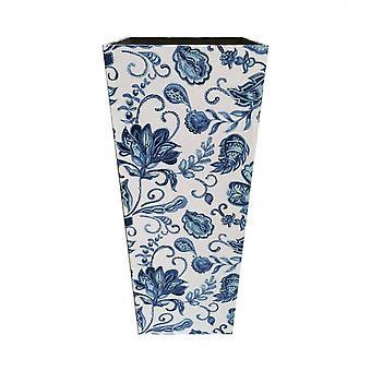 Rebecca Möbel Regenschirm Halter Regenschirm Mdf Canvas weiß blau Retro 50x21x21