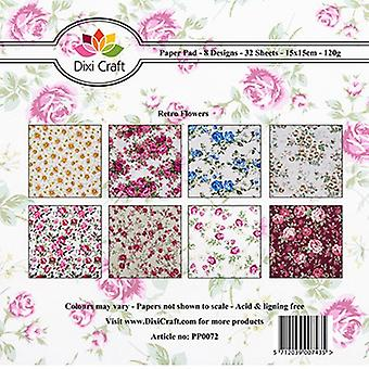 Dixi Craft 6x6 Inch Paper Pack Retro Flowers