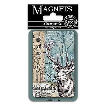 Stamperia Hirsch 8x5.5cm Magnet