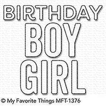 Moje ulubione rzeczy Urodziny Chłopiec & Dziewczyna Die-Namics